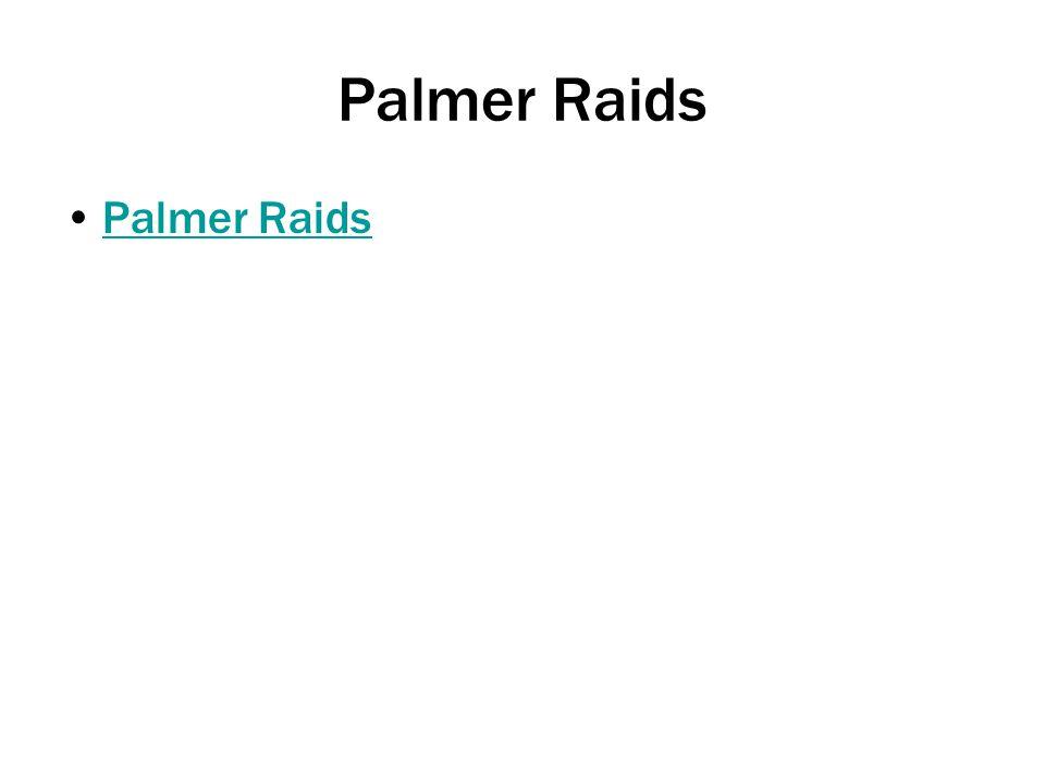 Palmer Raids Palmer Raids