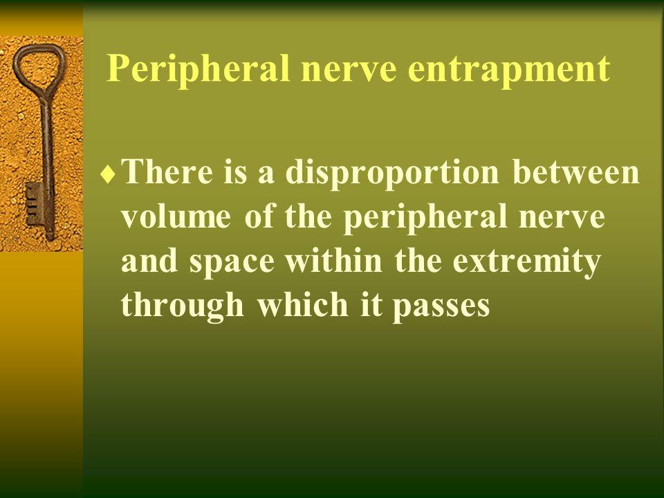 Peripheral nerve entrapment