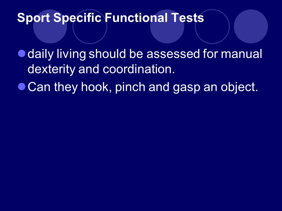 Sport Specific Functional Tests