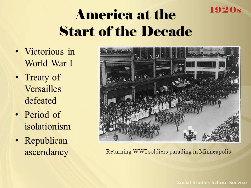 America at the Start of the Decade