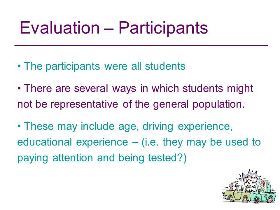 Evaluation – Participants