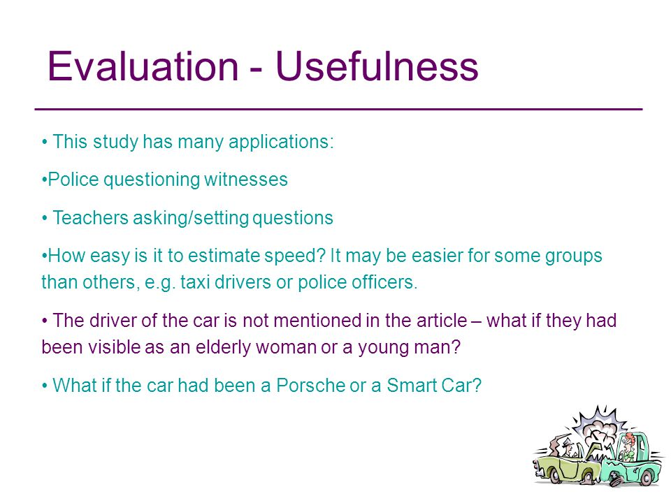 Evaluation - Usefulness