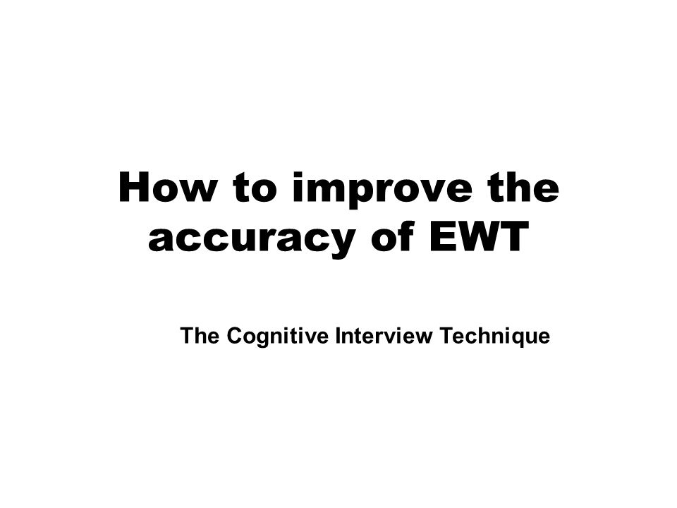 How to improve the accuracy of EWT