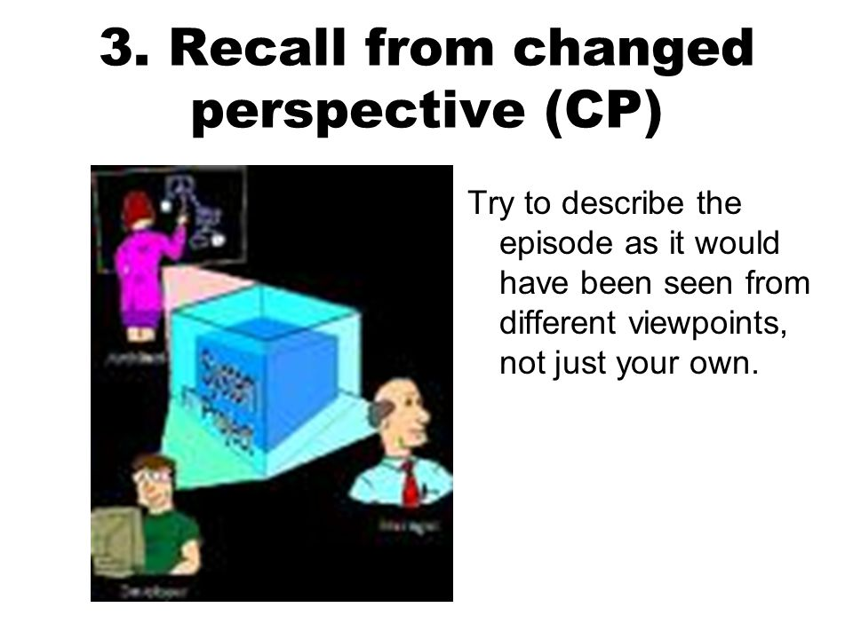 3. Recall from changed perspective (CP)