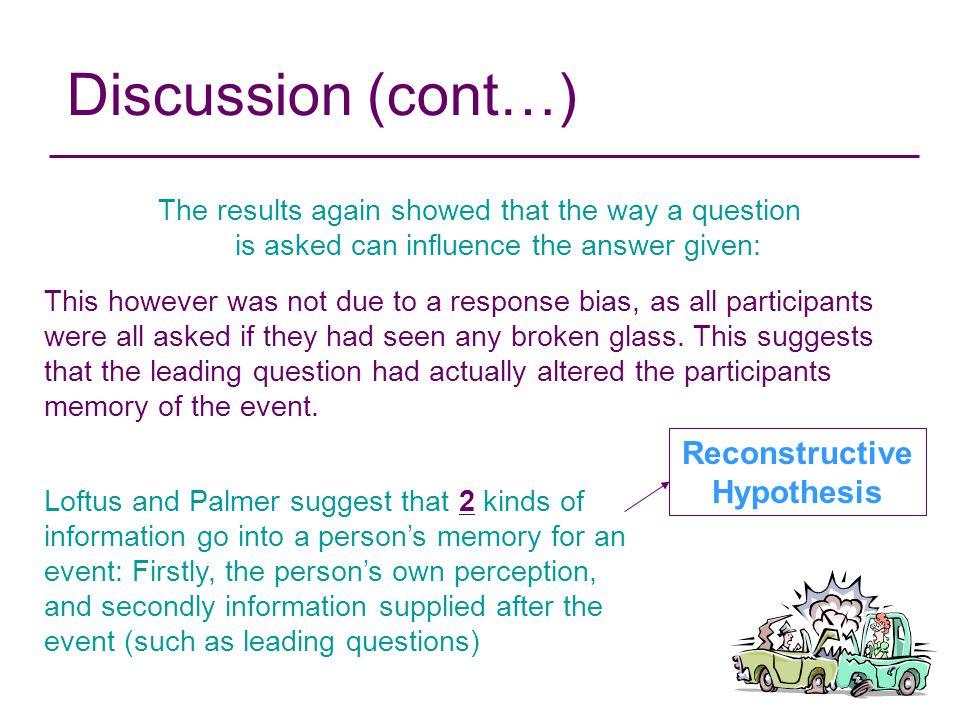 Reconstructive Hypothesis
