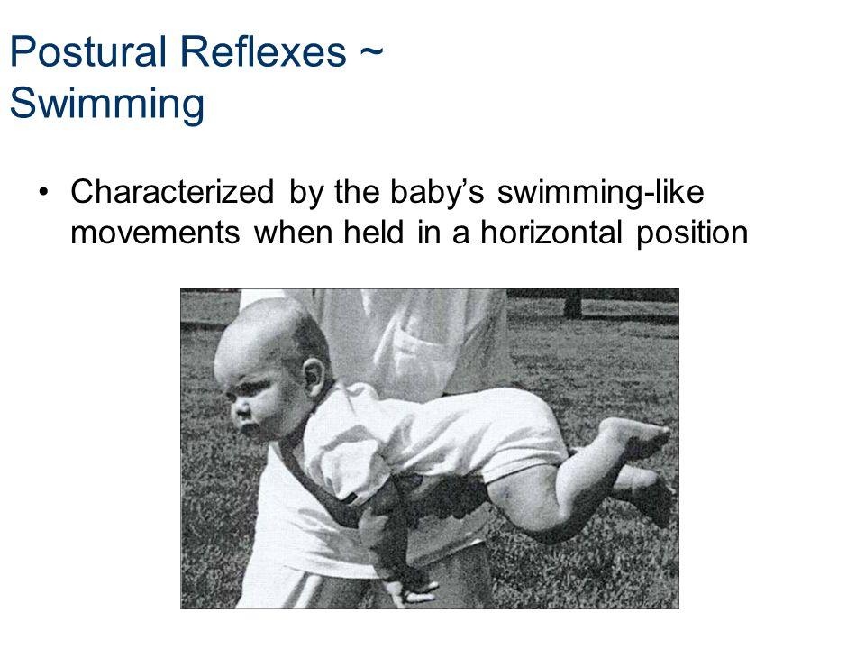 Postural Reflexes ~ Swimming