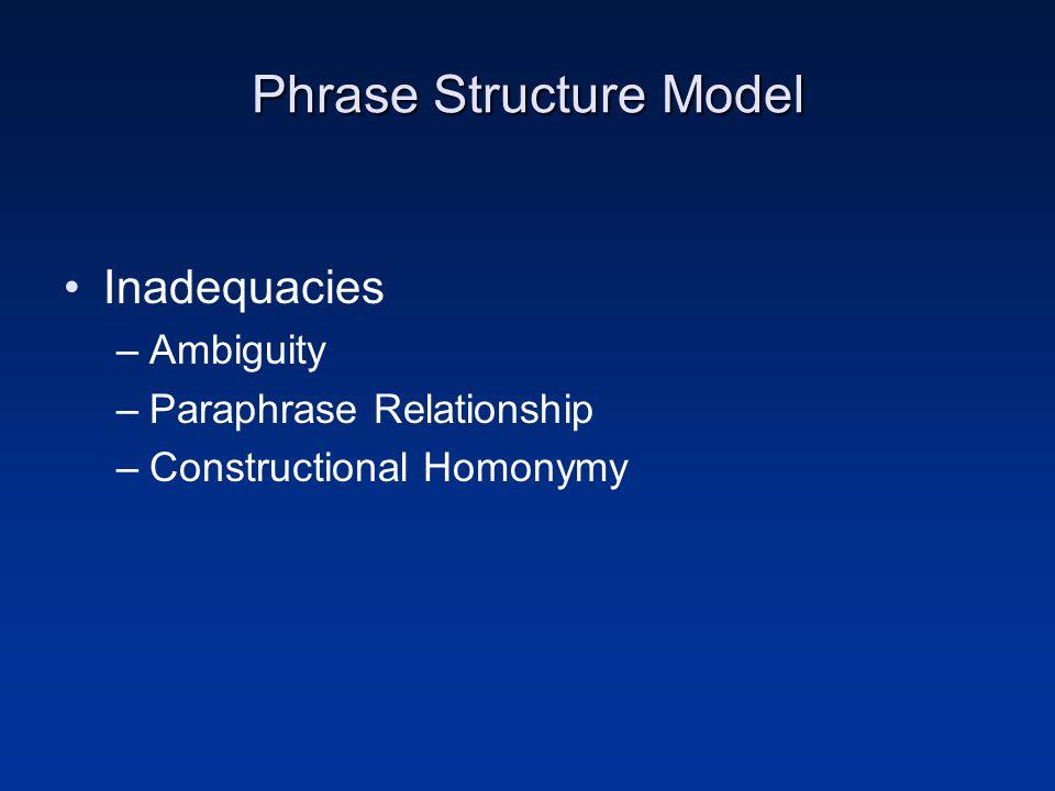 Phrase Structure Model