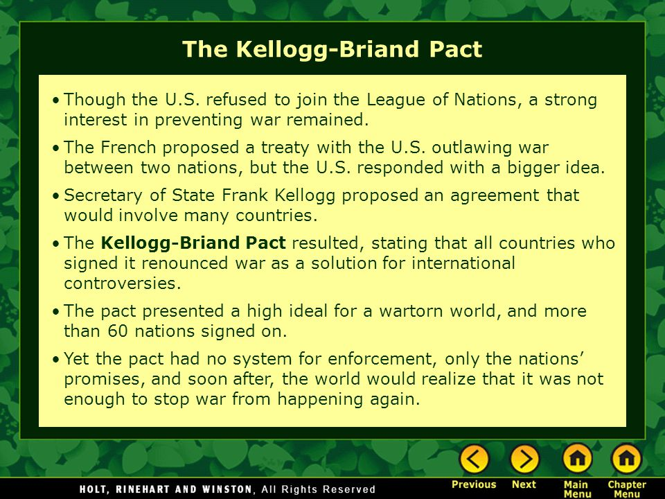 The Kellogg-Briand Pact