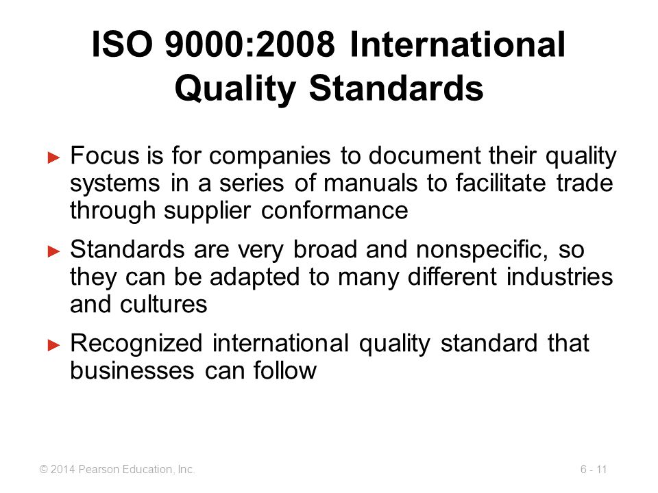 ISO 9000:2008 International Quality Standards