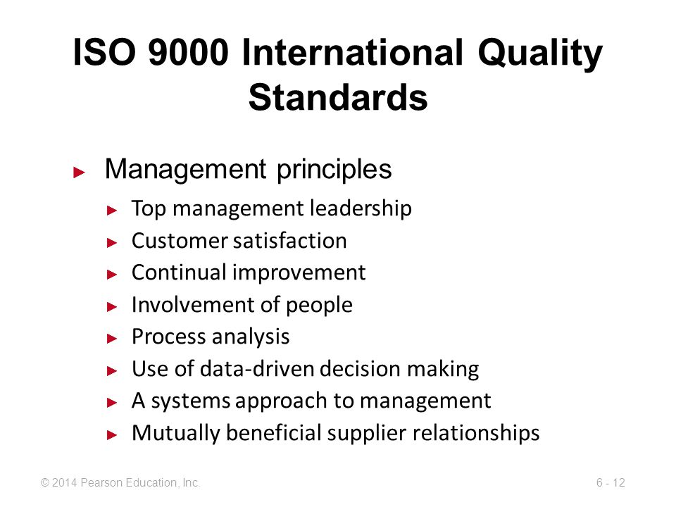 ISO 9000 International Quality Standards