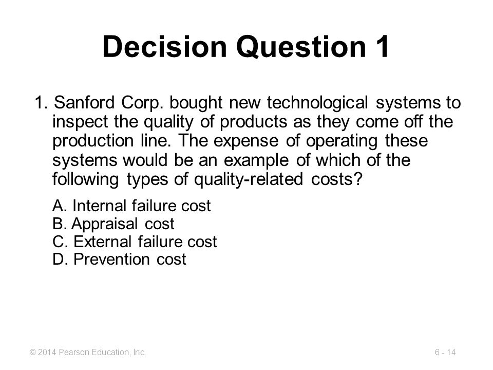 Decision Question 1