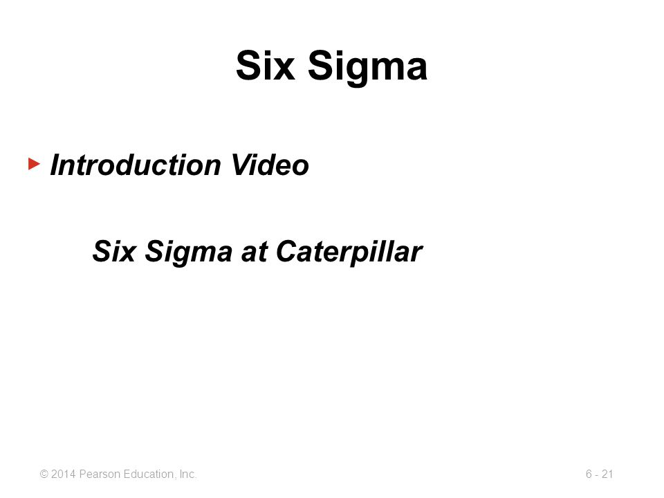 Six Sigma Introduction Video Six Sigma at Caterpillar
