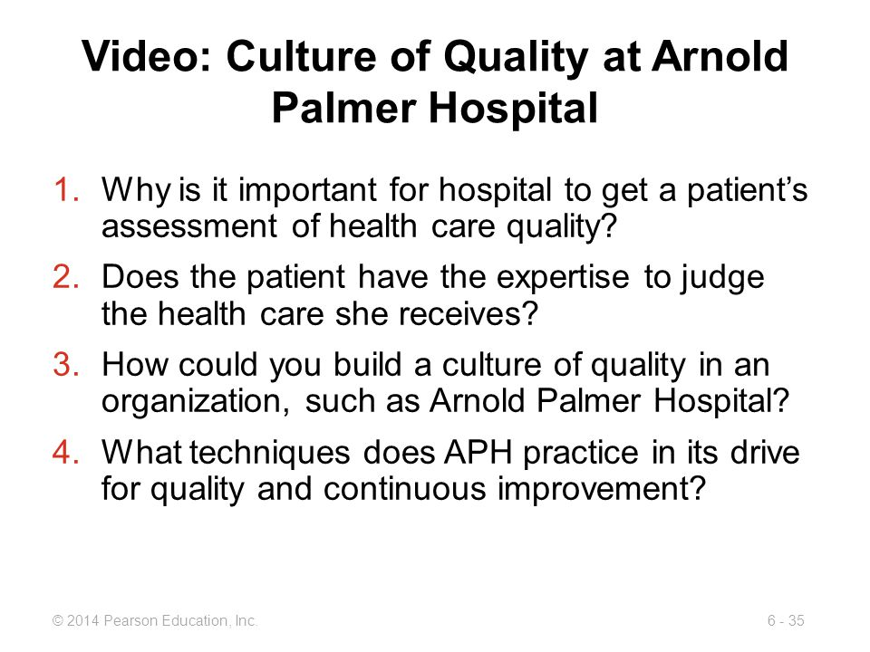 Video: Culture of Quality at Arnold Palmer Hospital