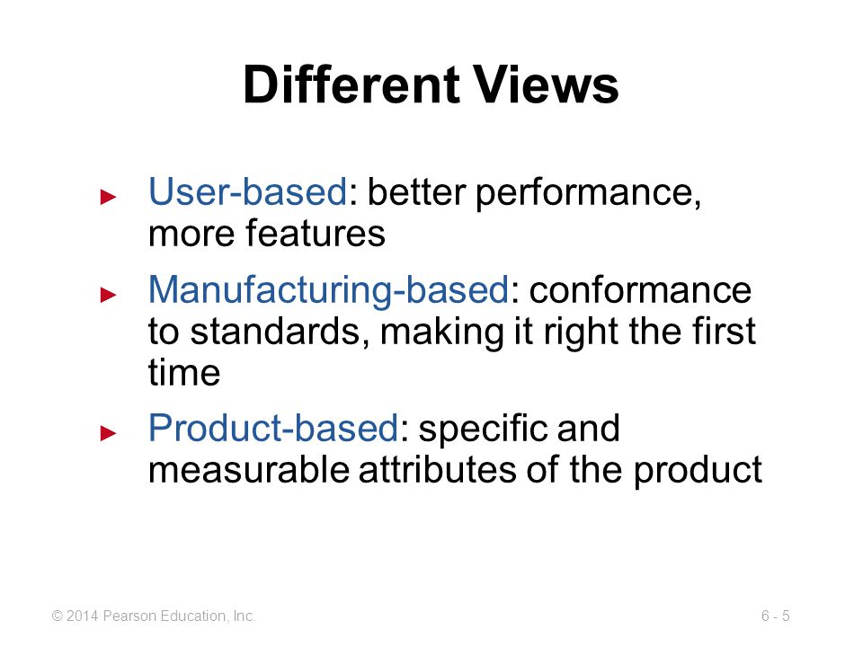 Different Views User-based: better performance, more features