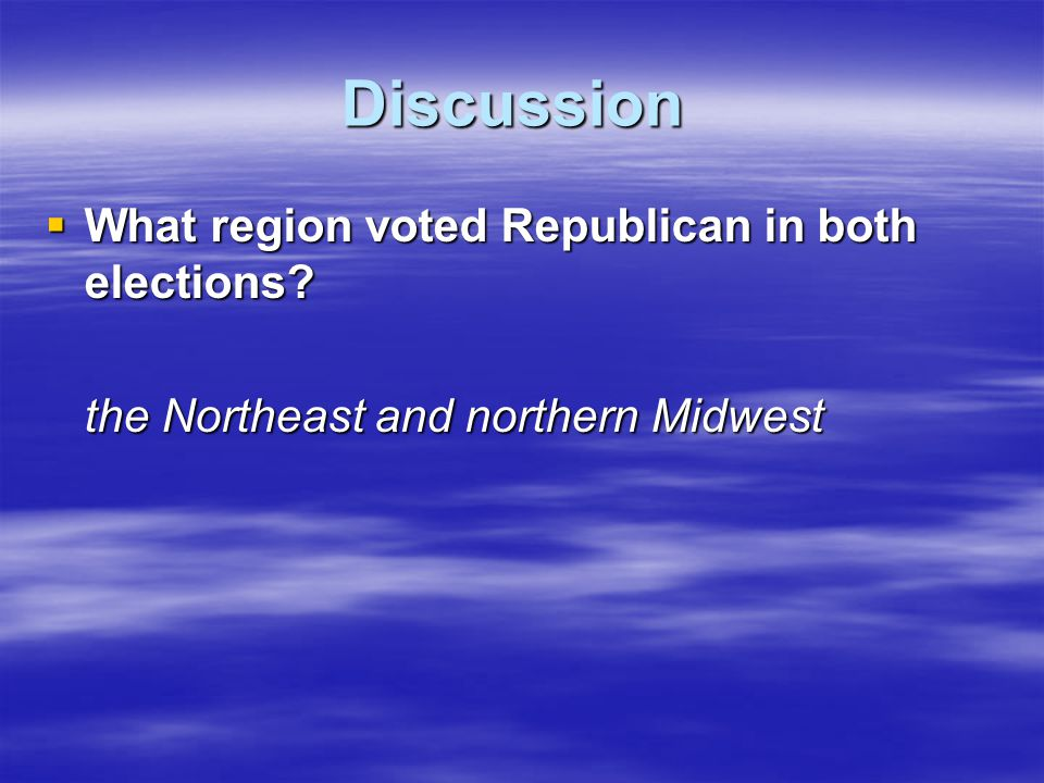 Discussion What region voted Republican in both elections