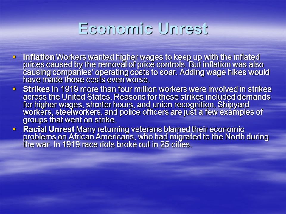 Economic Unrest