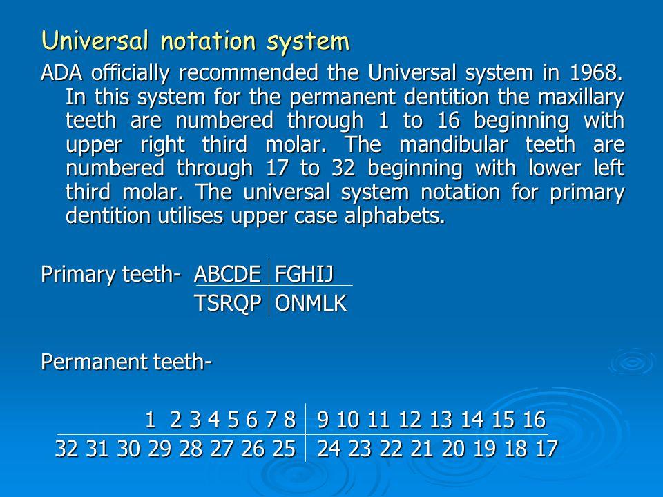 Universal notation system