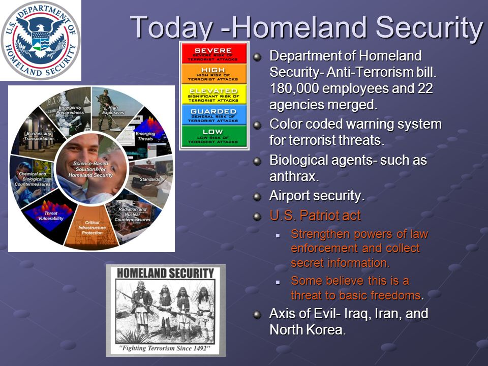 Today -Homeland Security