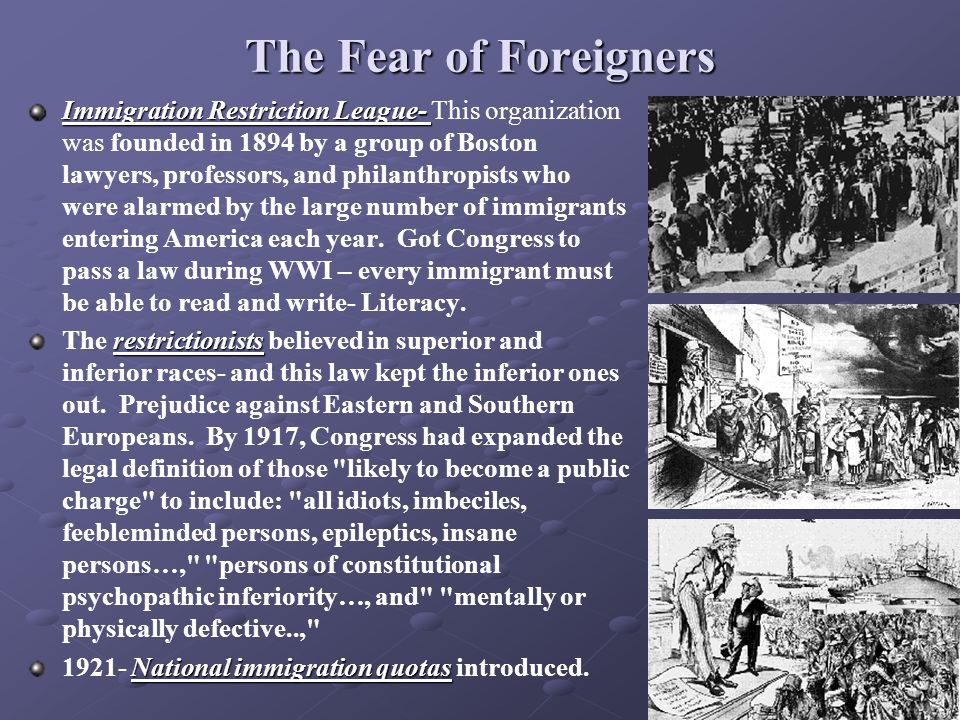 The Fear of Foreigners