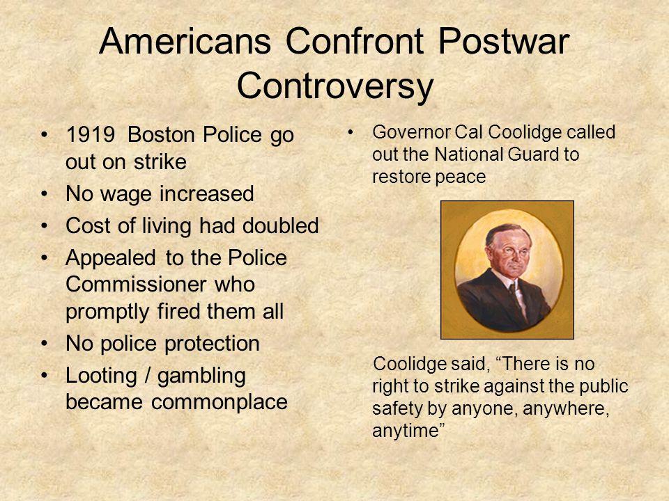 Americans Confront Postwar Controversy