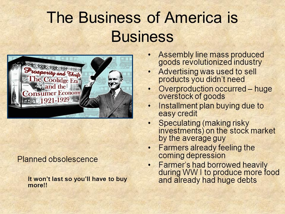 The Business of America is Business
