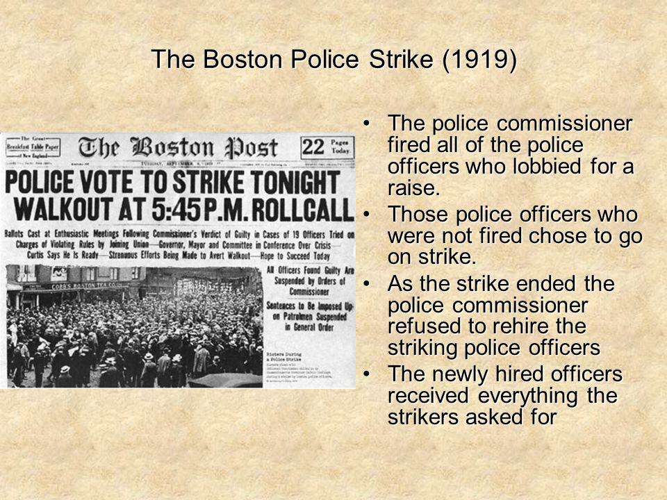 The Boston Police Strike (1919)