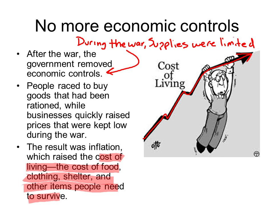 No more economic controls