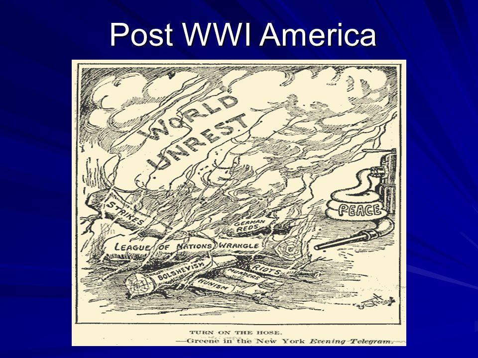 Post WWI America