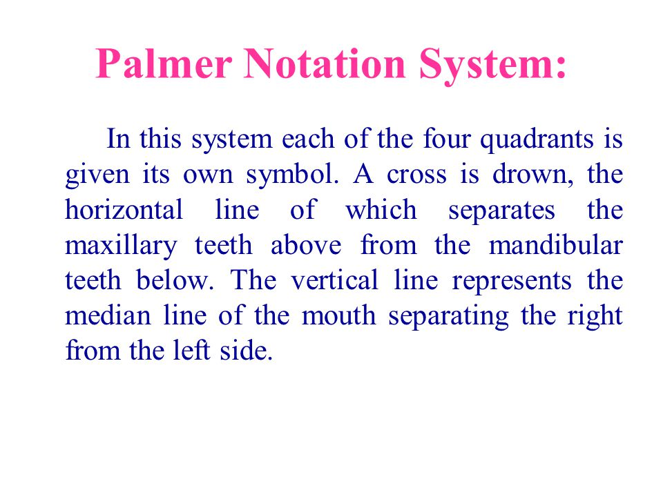 Palmer Notation System: