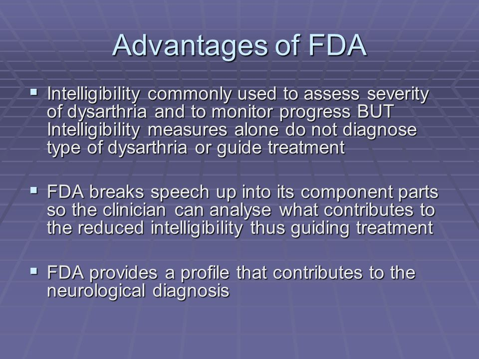 Advantages of FDA