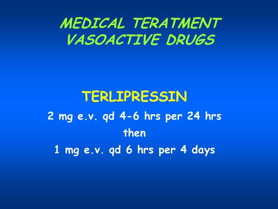 MEDICAL TERATMENT VASOACTIVE DRUGS