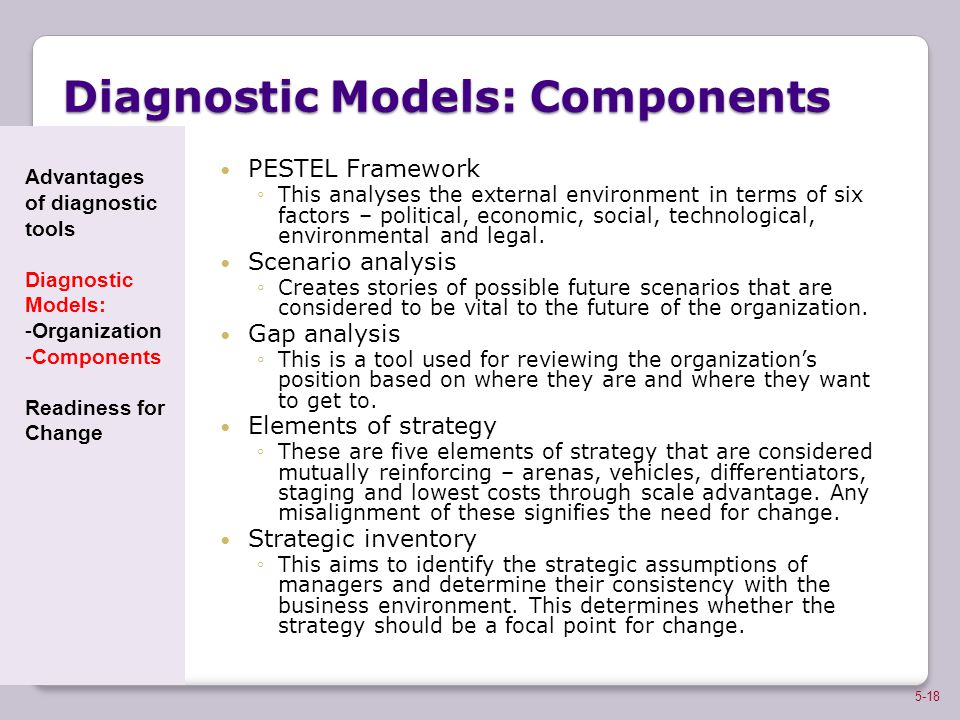Diagnostic Models: Components
