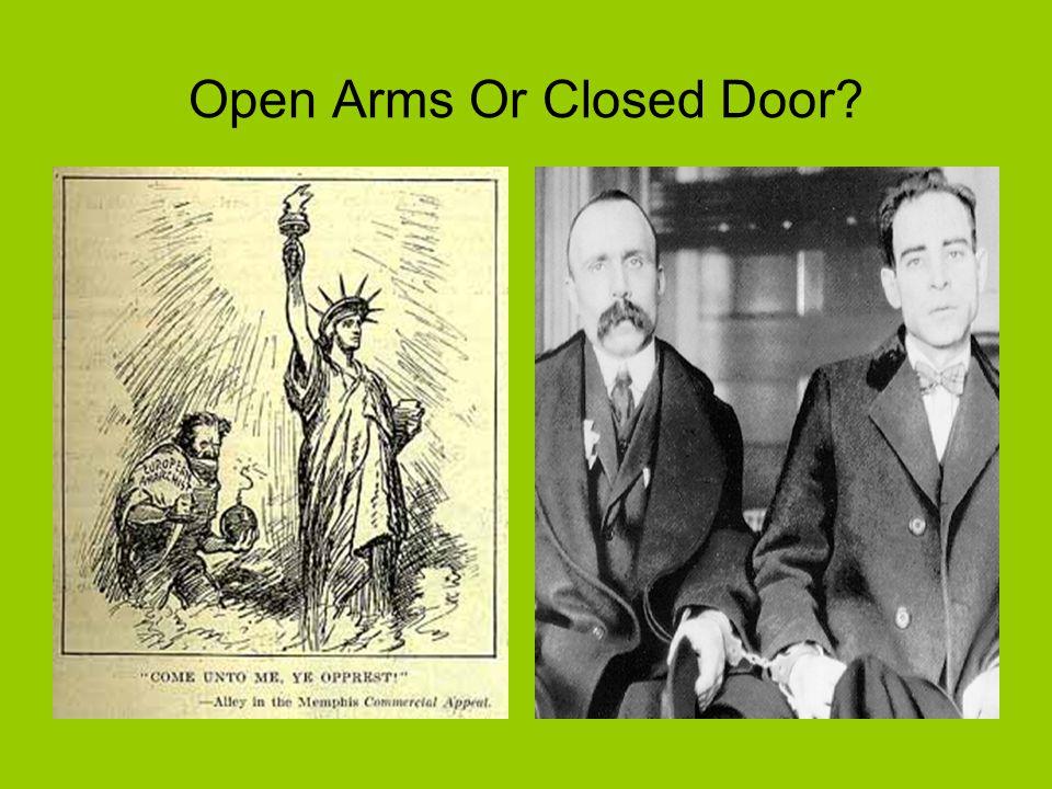 Open Arms Or Closed Door