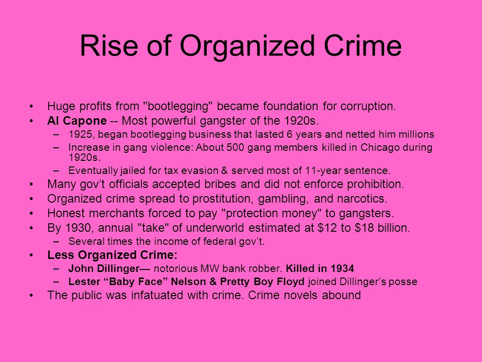 Rise of Organized Crime