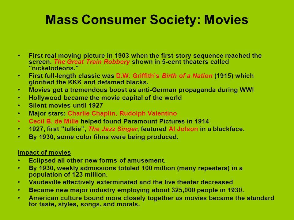 Mass Consumer Society: Movies