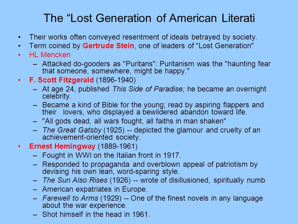 The Lost Generation of American Literati