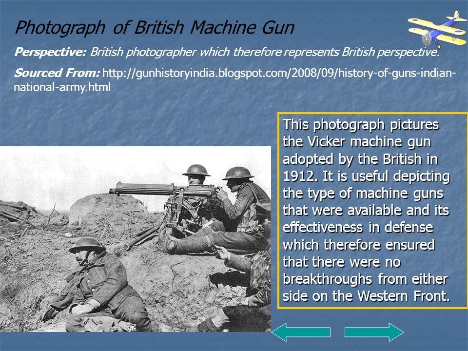 Photograph of British Machine Gun