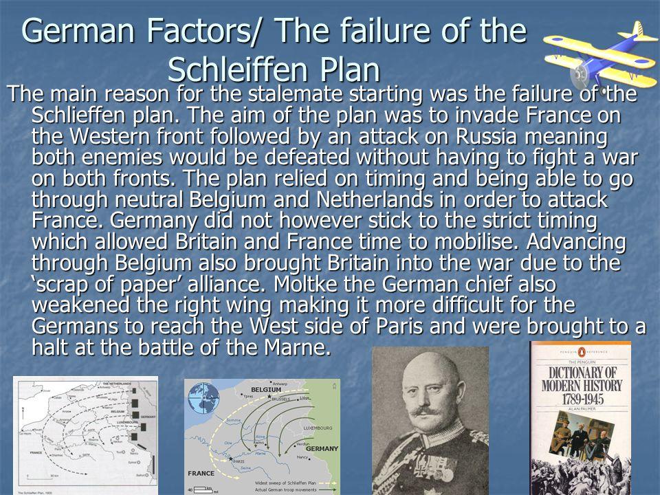 German Factors/ The failure of the Schleiffen Plan
