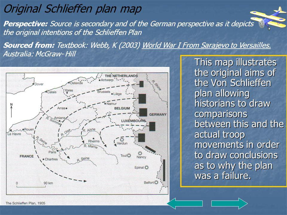 Original Schlieffen plan map