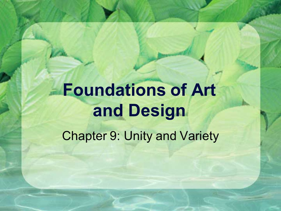 Foundations of Art and Design