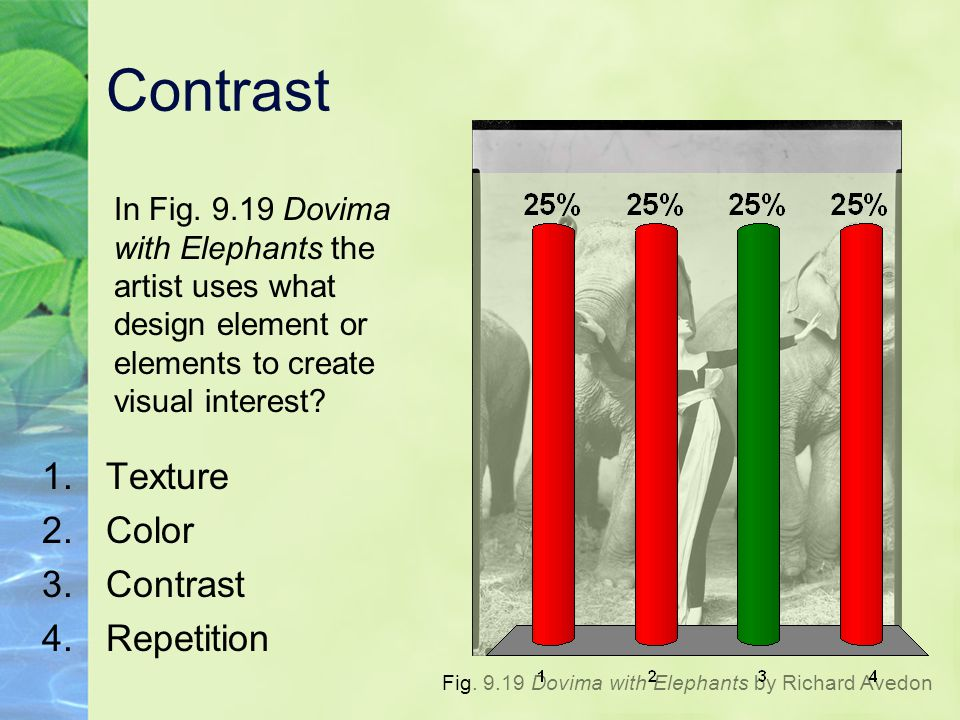 Contrast Texture Color Contrast Repetition