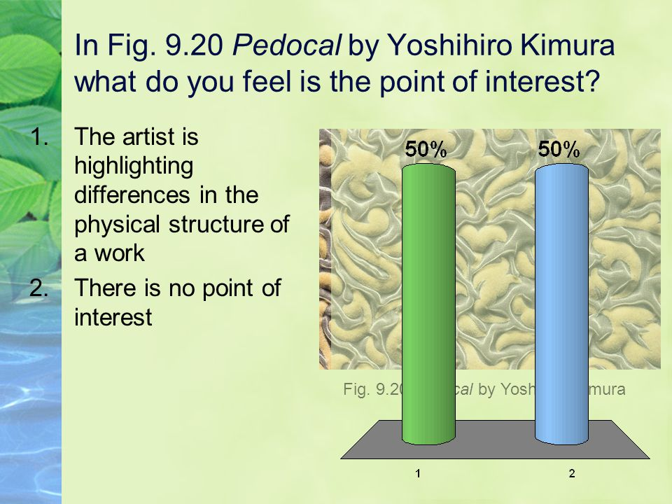 In Fig. 9.20 Pedocal by Yoshihiro Kimura what do you feel is the point of interest