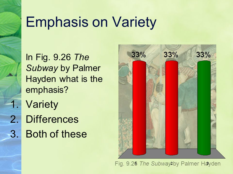 Emphasis on Variety Variety Differences Both of these
