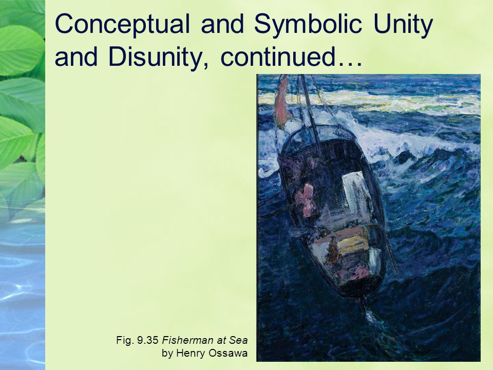 Conceptual and Symbolic Unity and Disunity, continued…