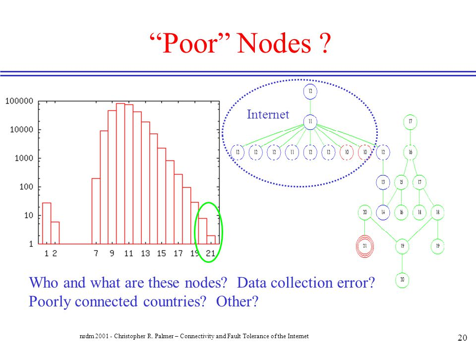 Poor Nodes Internet. Who and what are these nodes Data collection error Poorly connected countries Other