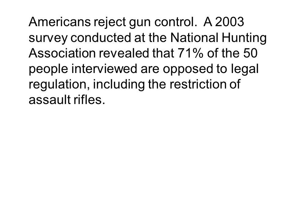 Americans reject gun control