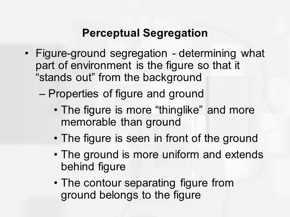 Perceptual Segregation