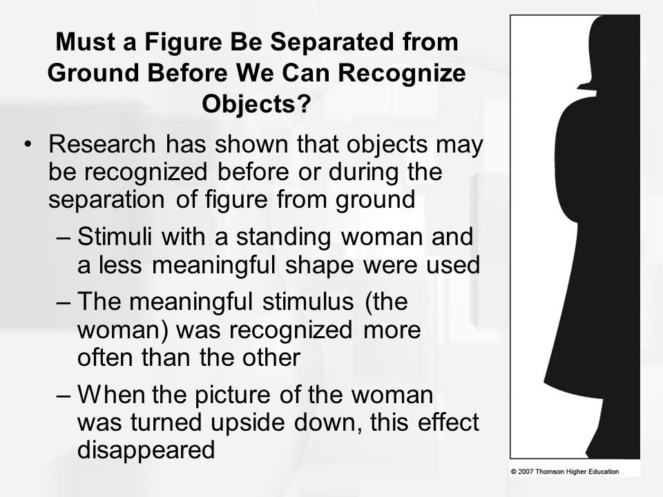 Must a Figure Be Separated from Ground Before We Can Recognize Objects