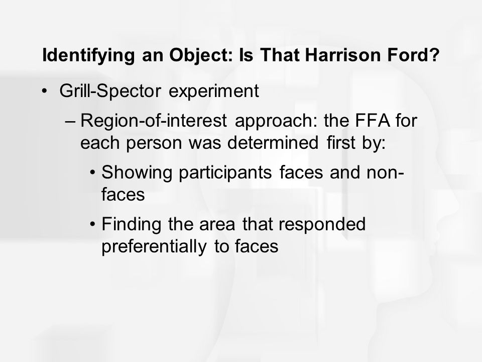 Identifying an Object: Is That Harrison Ford