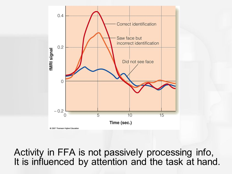 Activity in FFA is not passively processing info, It is influenced by attention and the task at hand.